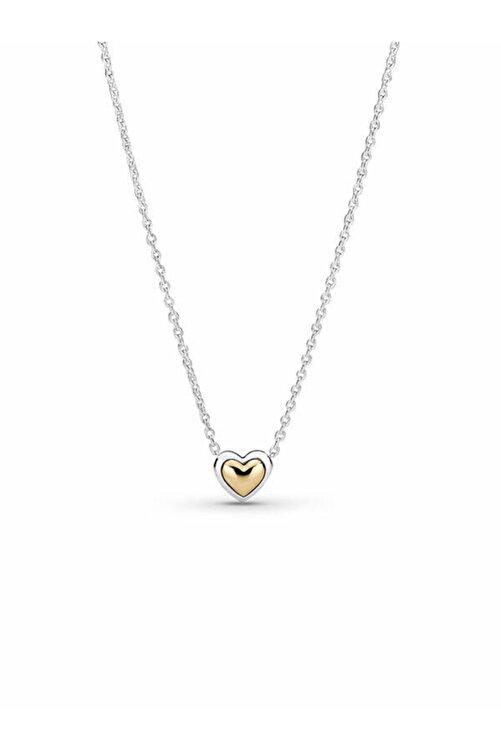 Pandora Kubbeli Altın Kalp Kolye 1