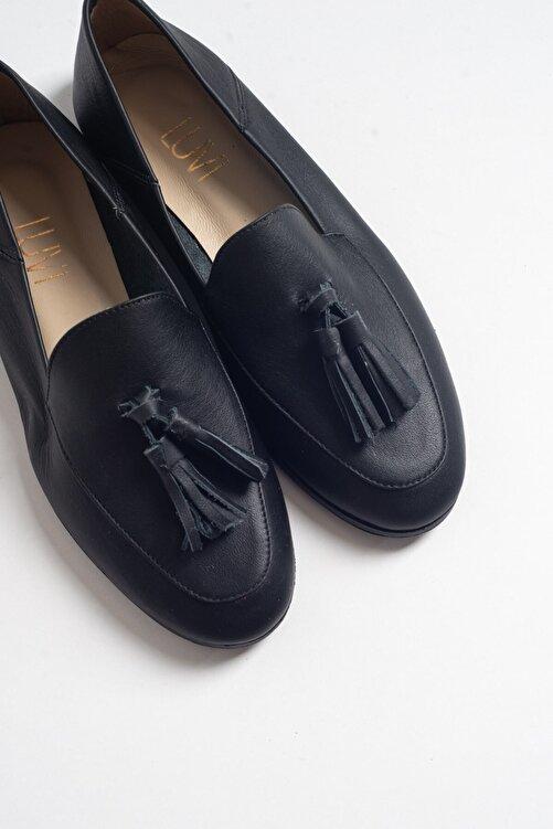 LuviShoes F04 Siyah Cilt Deri Ayakkabı 2