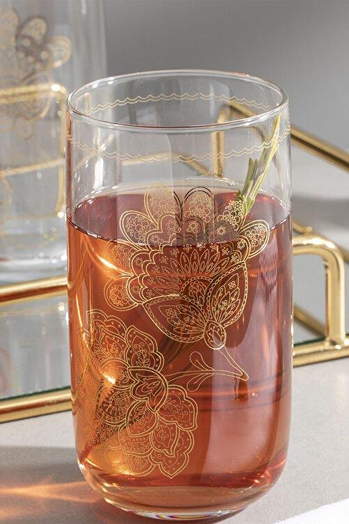 English Home Luba Cam 3'lü Meşrubat Bardağı 365 Ml Gold 2