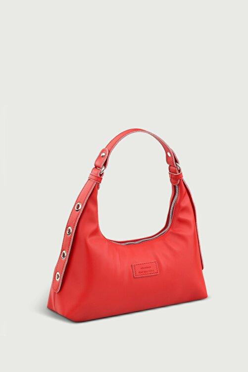Housebags Kadın Kırmızı Baguette Çanta 205 2