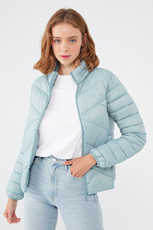 Mavi Kadın Dik Yaka Mavi Ceket 110698-34521 110698-34521 2