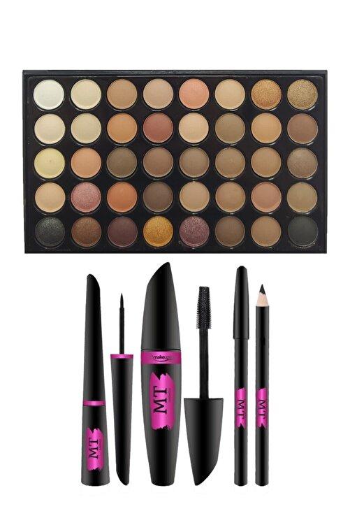 Makeuptime 40 Renkli Göz Far Paleti Ve Mt Rimel,eyeliner,göz Kalemi Seti 1