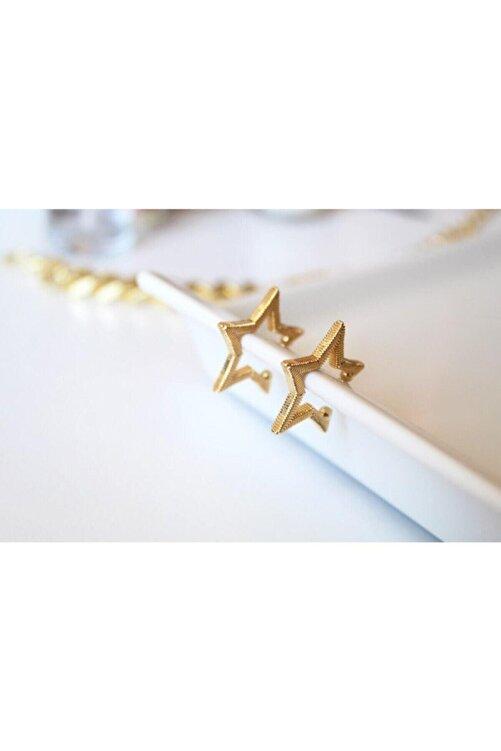 Cherybiju Gold Yıldız Sıkıştırmalı Kıkırdak Küpe [adet] 1