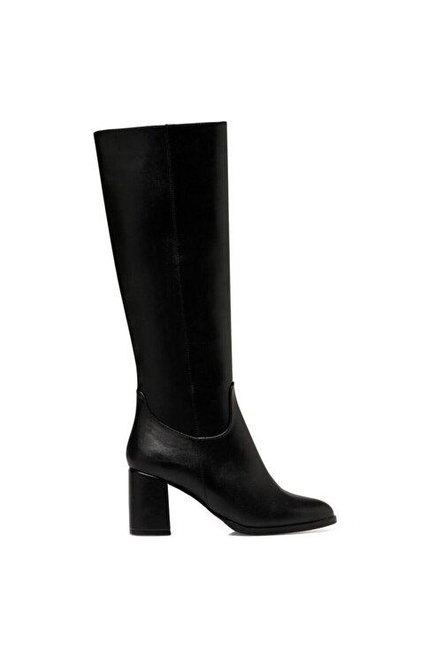 Nine West MASSA3 Siyah Kadın Ökçeli Çizme 100581295 1