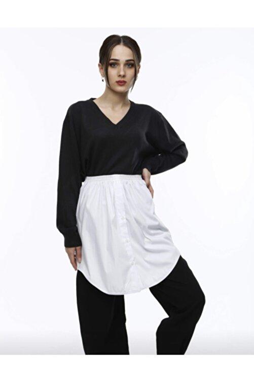 mirach Kadın Beyaz Gömlek İçlik Etek 1