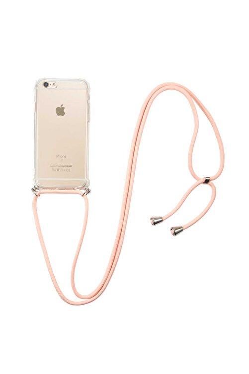 Fibaks Apple Iphone 6/6s  İpli Boyun Askılı Köşe Korumalı Şeffaf Kapak Kılıf 2
