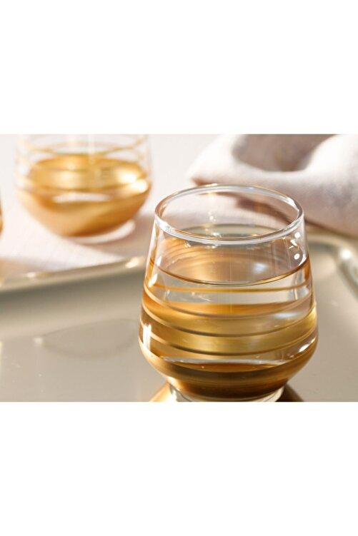 English Home Golden Cam 6'lı Kahve Yanı Su Bardağı 115 Ml Gold 2