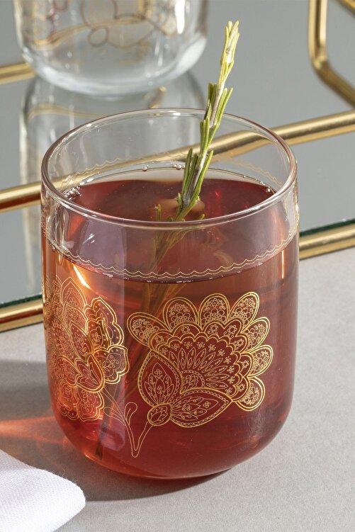 English Home Luba Cam 3'lü Meşrubat Bardağı 270 Ml Gold 2