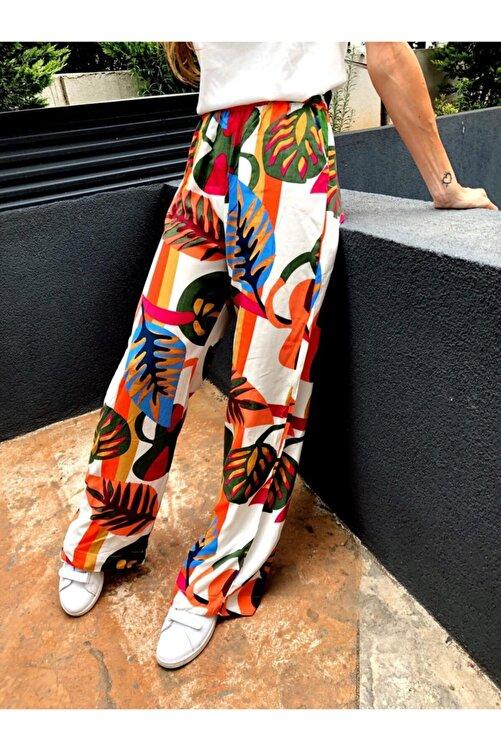 MAIO TASARIM Egzotik Çiçek Desenli Pantolon 1