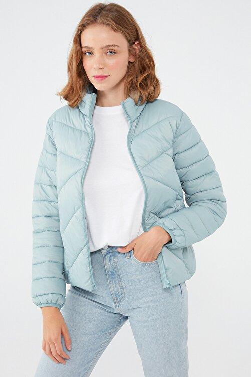 Mavi Kadın Dik Yaka Mavi Ceket 110698-34521 110698-34521 1