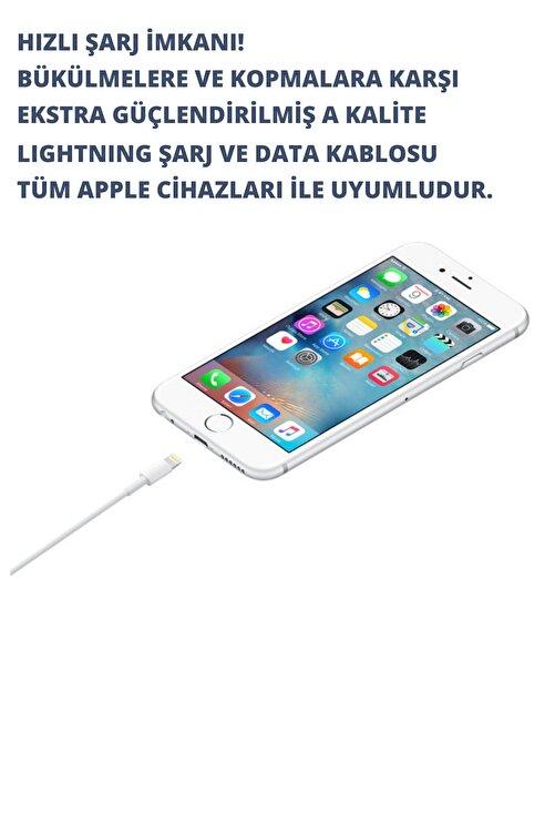 durabletech Iphone Uyumlu A Kalite Lightning Usb Data Ve Şarj Kablosu 1 Metre Beyaz 2