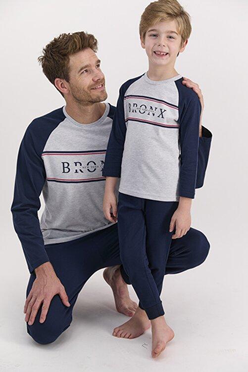 Arnetta Erkek Uzun Kol Bronx Yazılı Pijama Takımı (baba Oğul Kombin Yapılabilir Fiyatları Farklıdır) 1
