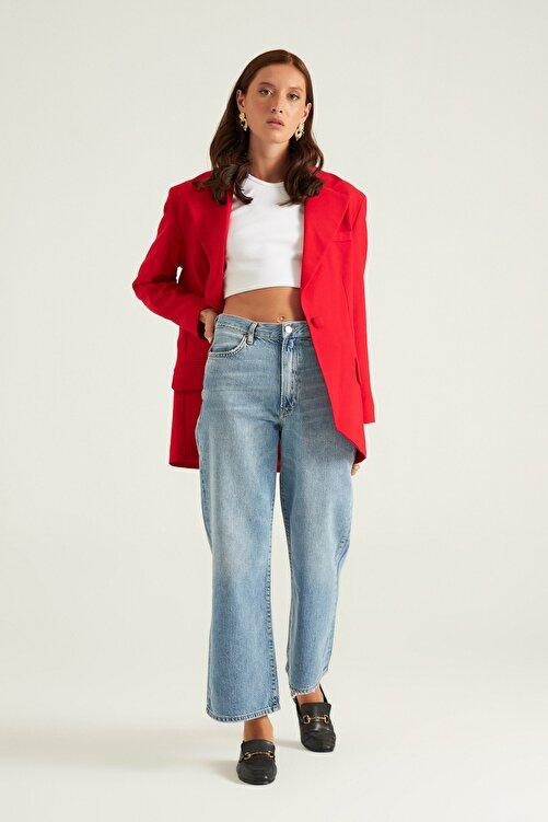 Mathilda By Çiğdem Bilici Kırmızı Tek Düğme Oversize Blazer Ceket 2