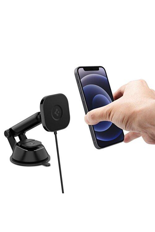 Spigen Onetap Pro Dashboard Araç Tutacağı + Magsafe Manyetik Kablosuz Şarj Cihazı Iphone 12 Serisi I 2