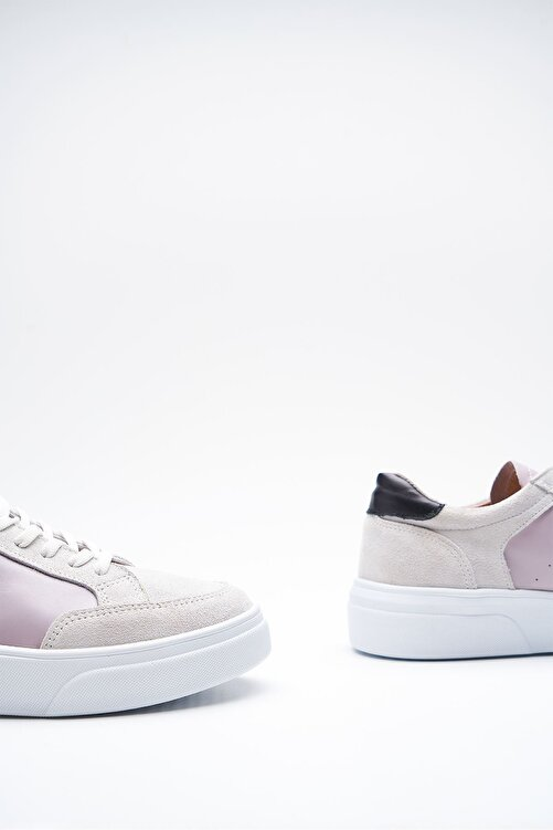 Louis Cardy Hedwig Beyaz Gri Hakiki Deri Kadın Sneakers 2