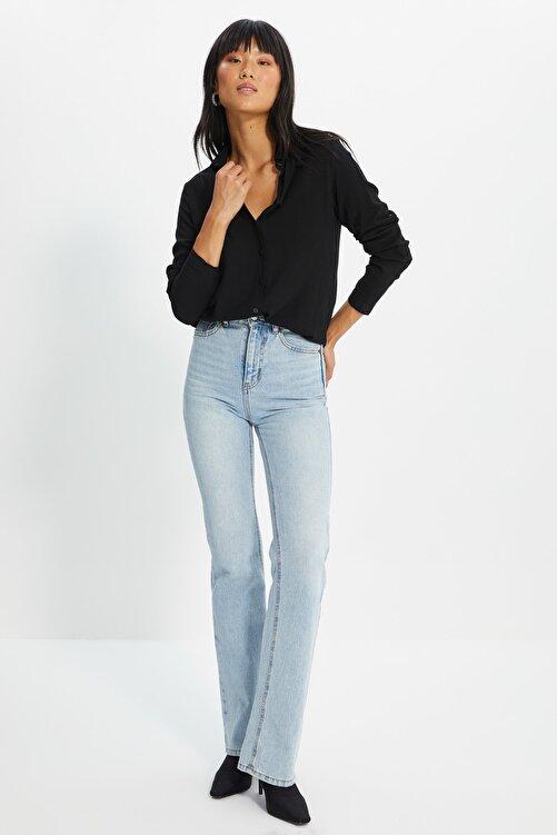TRENDYOLMİLLA Siyah Basic Gömlek TWOAW20GO0218 2