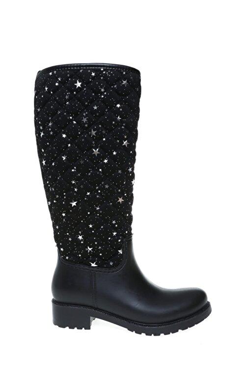 T-Box Siyah Kadın Yağmur Çizmesi 1