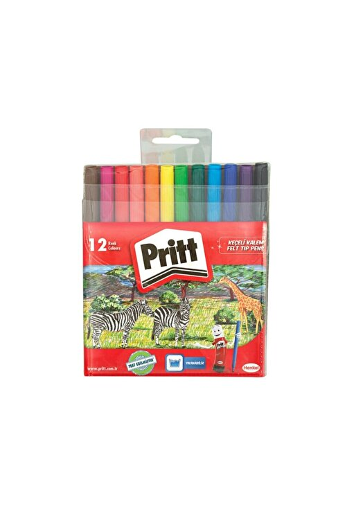 Pritt Keçeli Boya Kalemi 12 Renk 1687976 1