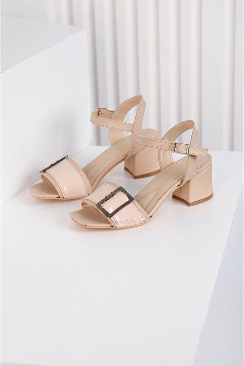 Edvani Klaris 3828 - Kadın Topuklu Vizon Ayakkabı 1
