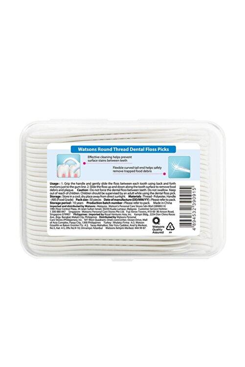 Watsons Round Thread Dental Floss Picks 50 Adet 2
