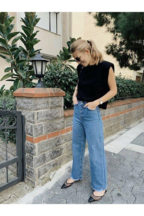MAIO TASARIM Mavi Wide Leg Jean Pantolon 2