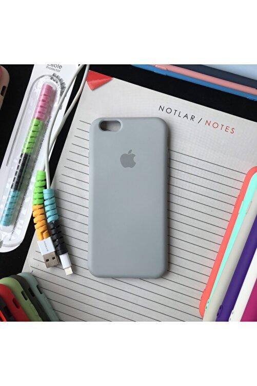 SUPPO Iphone 6 Ve 6s Uyumlu Logolu Lansman Kılıf Ve Kablo Koruyucu Makaron 1