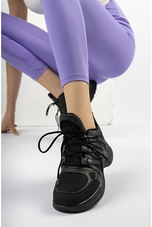 McDark Kadın Siyah Spor Ayakkabı Sneaker 1