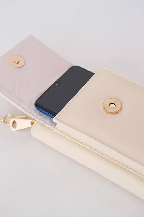 Addax Kadın Bej Telefon Bölmeli Cüzdan Çantası Czdn74 - F6 Adx-0000022976 2
