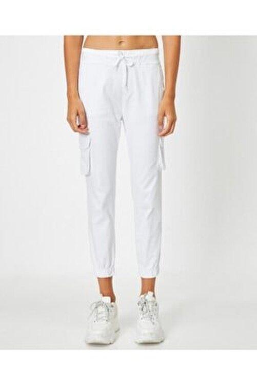 Lukas Kadın Bel Bağlamalı Beyaz Pantolon 2