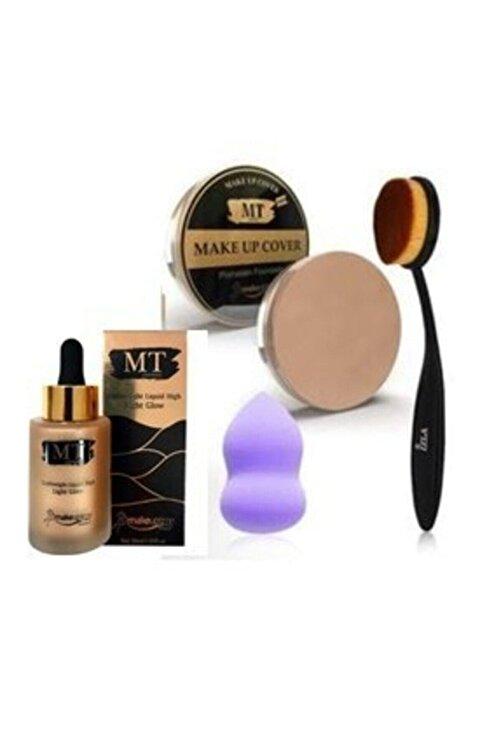 Makeuptime Mt Aydınlatıcı +kapatıcı+kaşık Fırça+sünger 1