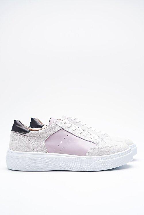 Louis Cardy Hedwig Beyaz Gri Hakiki Deri Kadın Sneakers 1