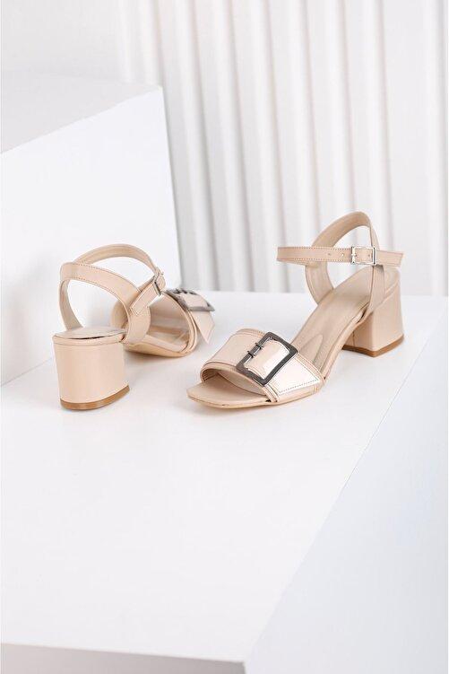 Edvani Klaris 3828 - Kadın Topuklu Vizon Ayakkabı 2