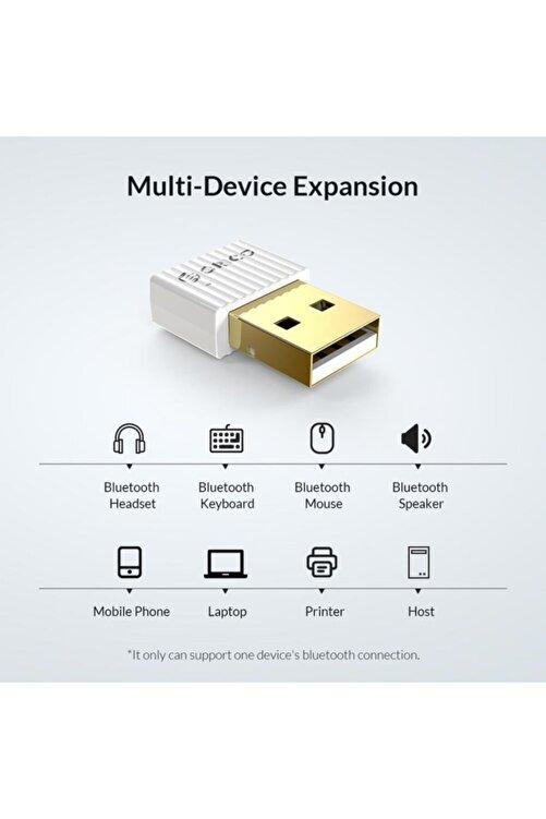 Schulzz Bluetooth Adaptör 5.0 Rtl Mini Dongle Usb Alıcı Verici Beyaz 2
