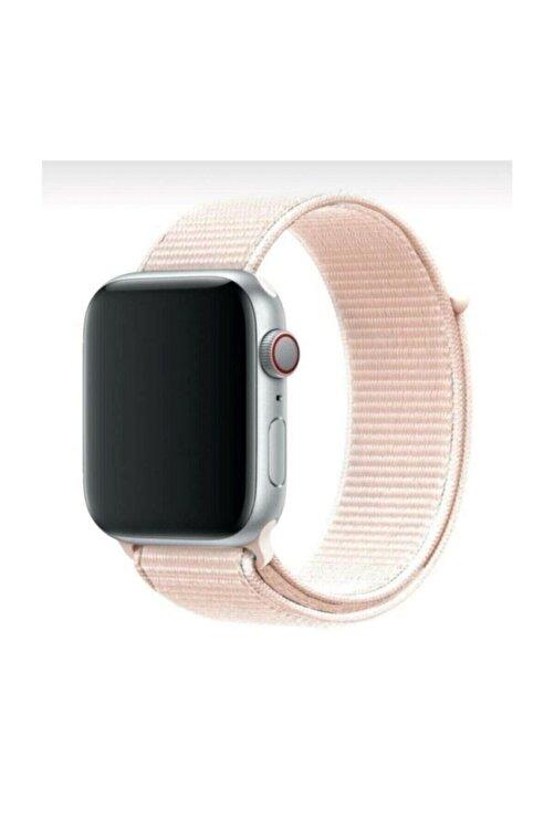 Robotekno Apple Watch 2 3 4 5 6 Se Uyumlu 38 Mm Ve 40 Mm Için Dokuma Kordon Kayış - Inci Pembesi 1
