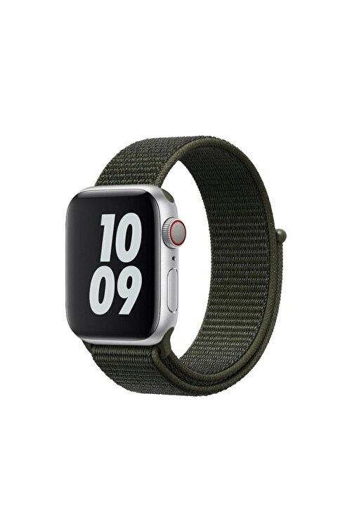 Robotekno Apple Watch 2 3 4 5 6 Se Uyumlu 38 Mm Ve 40 Mm Için Dokuma Kordon Kayış - Haki 1