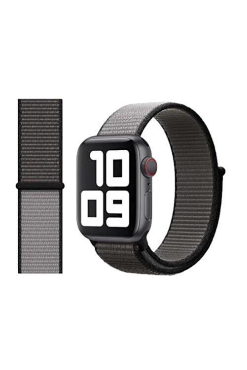 Robotekno Apple Watch 2 3 4 5 6 Se Uyumlu 38 Mm Ve 40 Mm Için Dokuma Kordon Kayış - Demir Grisi 1