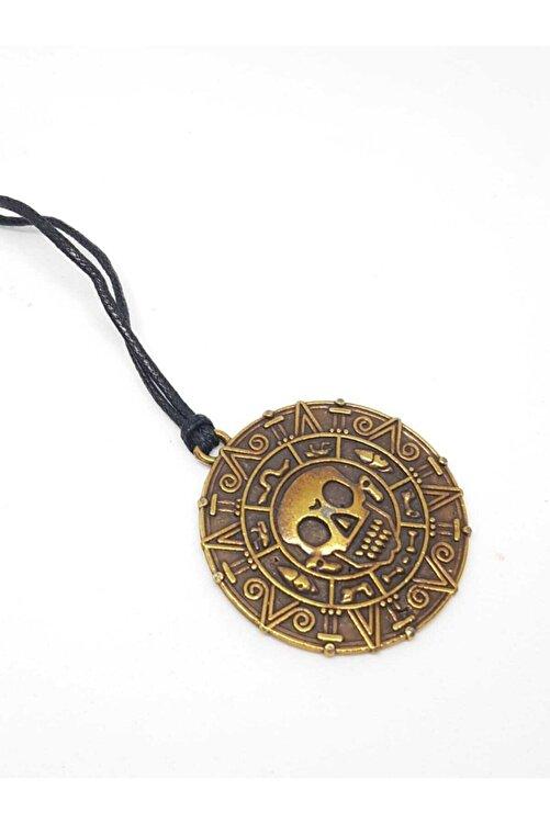TUNA TAKI & AKSESUAR Aztek Uygarlığı Temalı Iki Taraflı Kolye (MODEL 2). Aztek Parası Aztek Coin 1