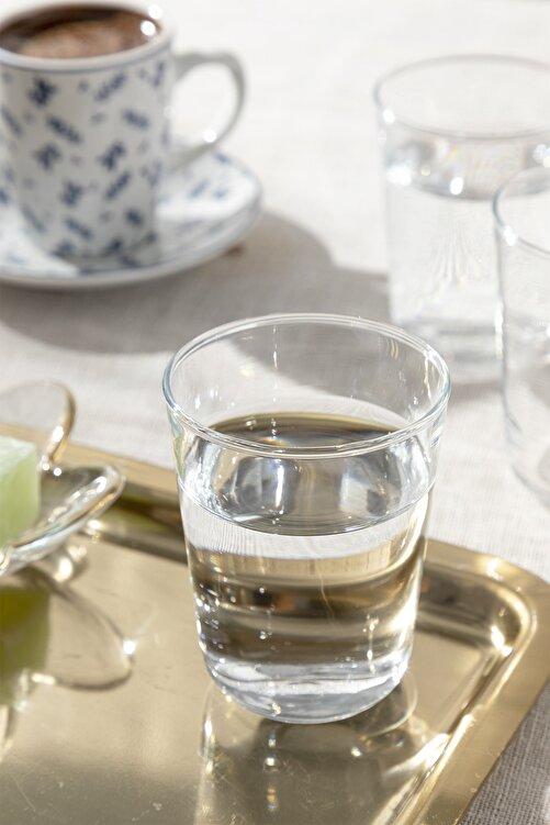English Home Hira Cam 6'lı Kahve Yanı Su Bardağı 120 Ml Şeffaf 1