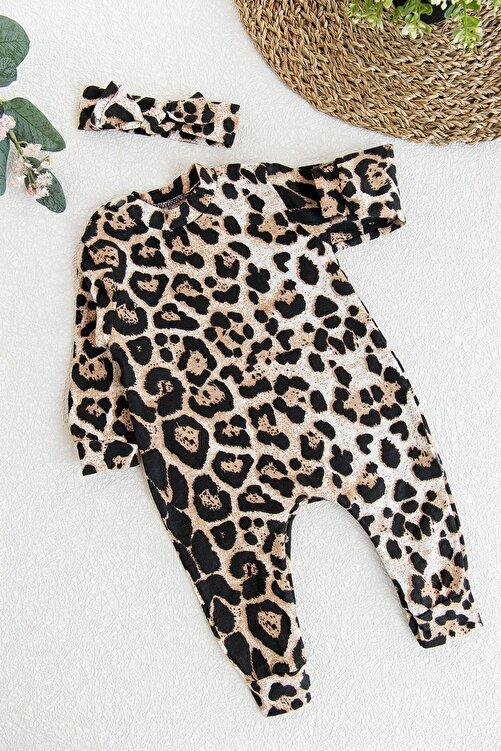 İmaj Kız Bebek Leopar Desenli Bebek Tulum 1