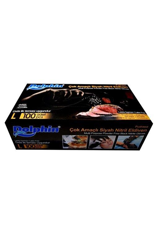 Dolphin Nitril Siyah Eldiven ( L ) Beden ( 100'lü Paket ) 2