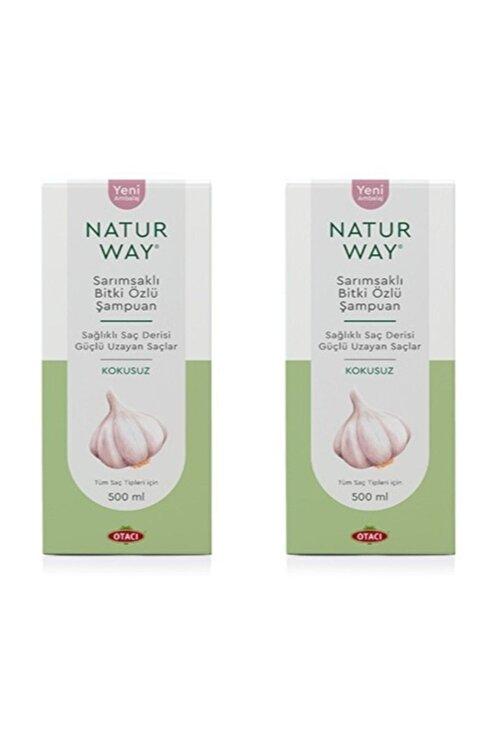 Otacı Naturway Sarımsaklı Bitki Özlü Şampuan 500 ml X 2 Adet 1