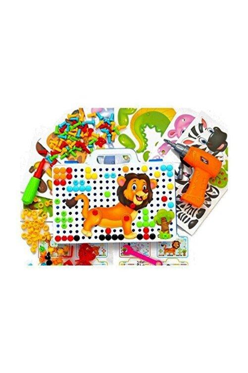 Gazi Kırtasiye Matkaplı Vidalama Ve 3d Yaratıcı Mozaik Puzzle 198 Parça Creative Portable Box Yapı Lego Oyunu 2