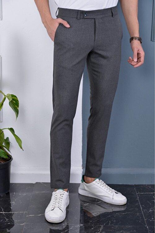 Bürke Erkek Okul Grisi Italyan Kesim Slimfit Kumaş Pantolon 1