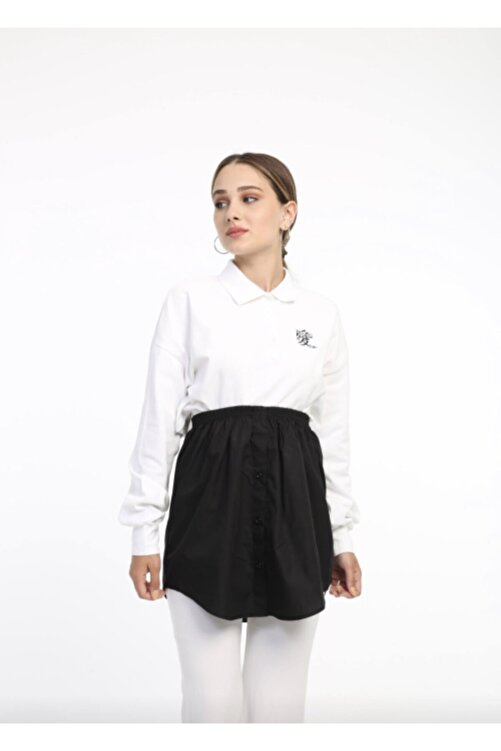 mirach Kadın Siyah İçlik Gömlek Etek 1