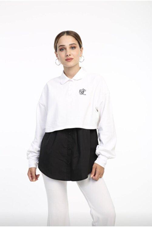 mirach Kadın Siyah İçlik Gömlek Etek 2