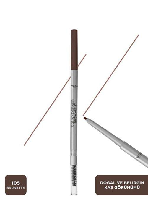 L'Oreal Paris Brow Artist Skinny Definer Kaş Kalemi 105 Brunette 3600523796854 2