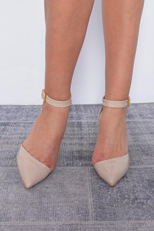 Mossta Kadın Bej Rugan Topuklu Ayakkabı 1