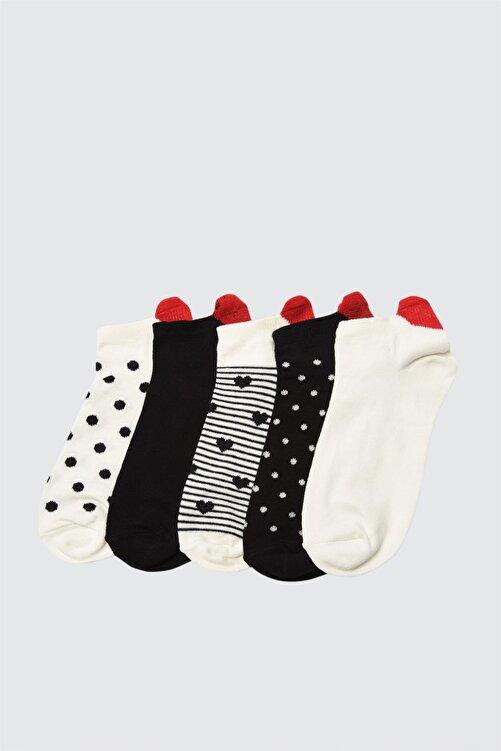 TRENDYOLMİLLA Desenli 5'li Örme Çorap TWOAW21CO0143 1