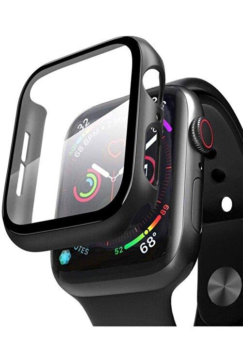 TahTicMer Apple Watch 44mm Uyumlu  Tpu Çerçeveli Ekran Koruyuculu Ön Çerçeve Kılıf 1