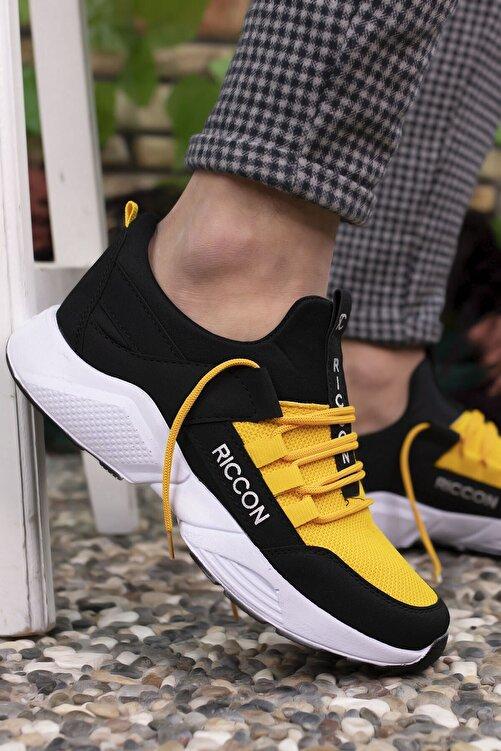 Riccon Siyah Sarı Unisex Sneaker 1